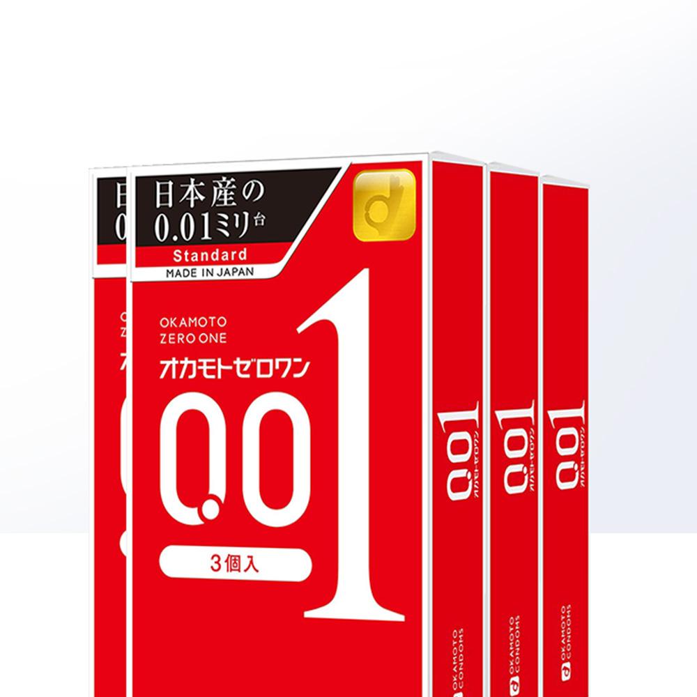 日本进口Okamoto冈本001安全套超薄避孕套保险套3只*4盒【图3】