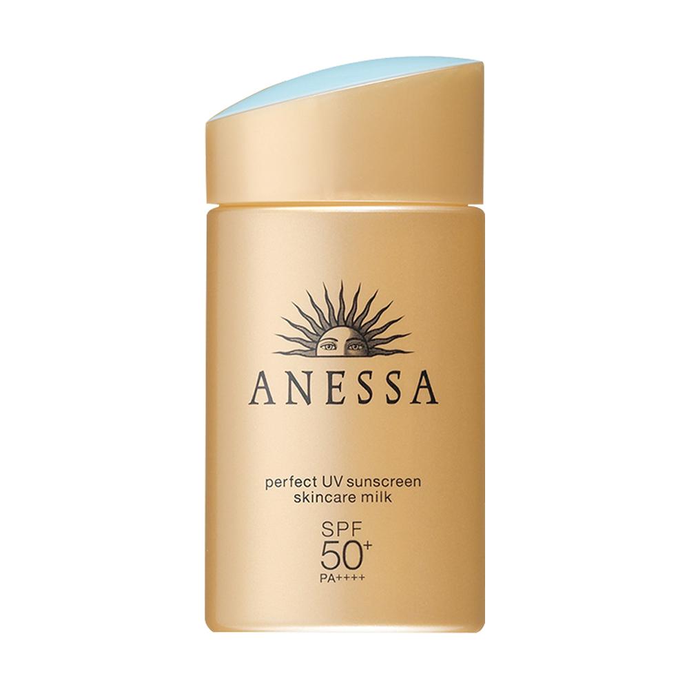 日本ANESSA安耐晒进口金瓶安热沙防晒乳防水隔离SPF50清爽通用