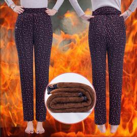 中老年人棉裤女三层加绒加厚大码保暖裤松紧高腰深裆老年人冬季裤