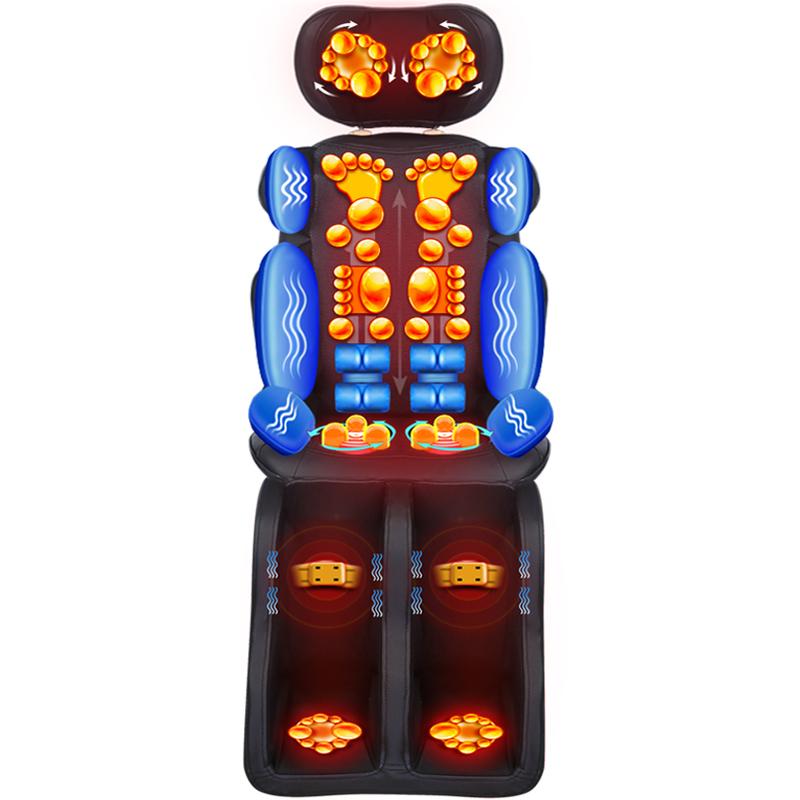 全自动多功能颈椎腰部靠垫家用全身按摩器电动按摩椅子老人沙发椅
