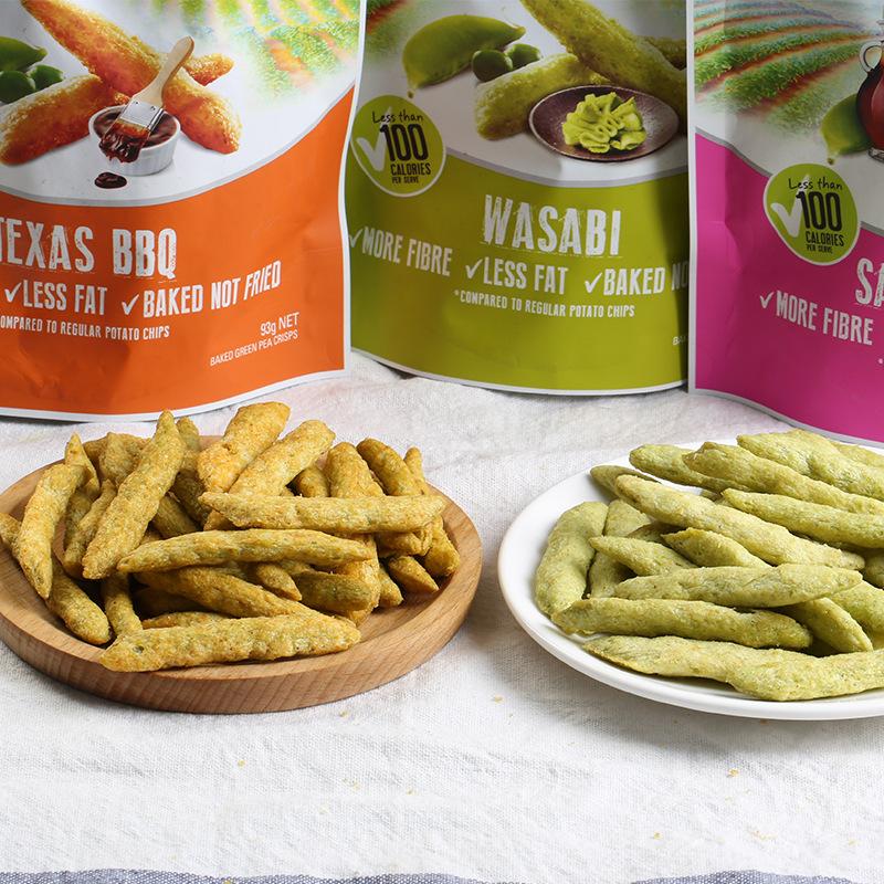 烧烤味芥末味咸味膨化零食品 93g 卡乐比豌豆脆 牌 Calbee 泰国进口