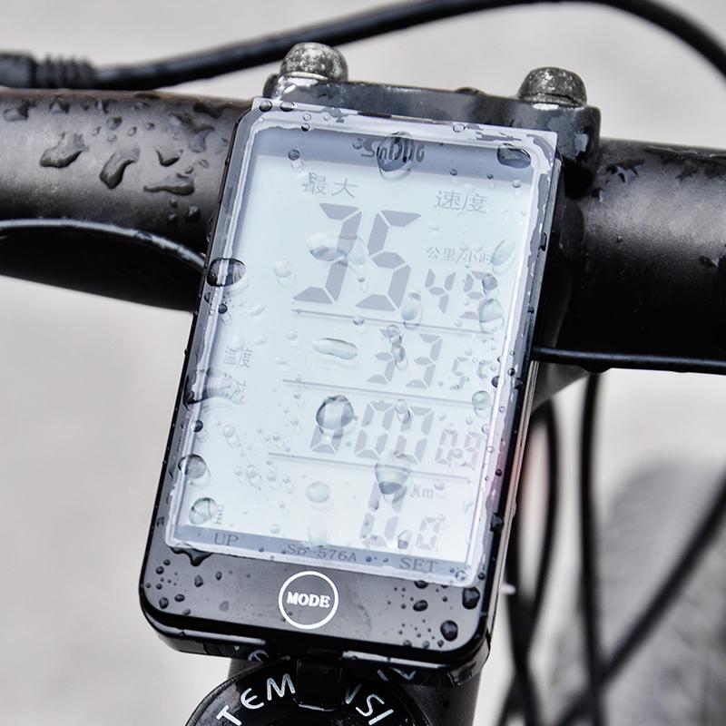 順東576A/C自行車碼錶 無線防水夜光中文山地車里程錶 大螢幕碼錶