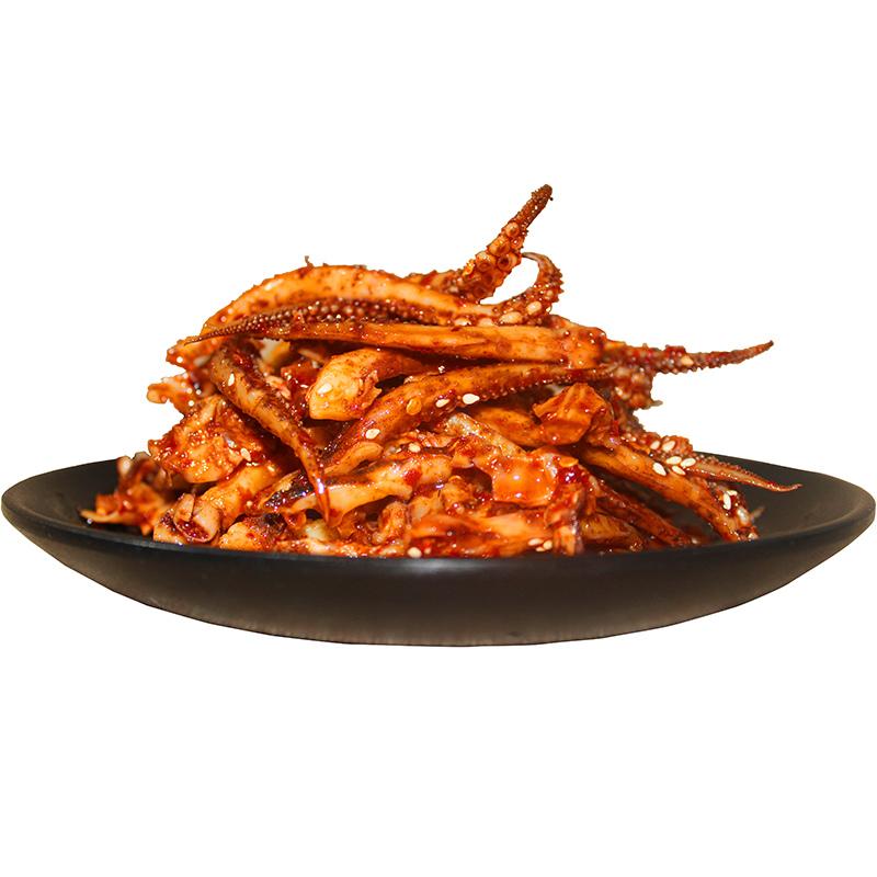 鱿鱼须  麻辣恰味道湖南特产鱿鱼丝美食特色香辣即食现做小吃零食