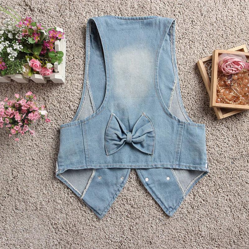 2019牛仔马甲女装短款春季复古背心外套夏季无袖薄款修身马 夹女