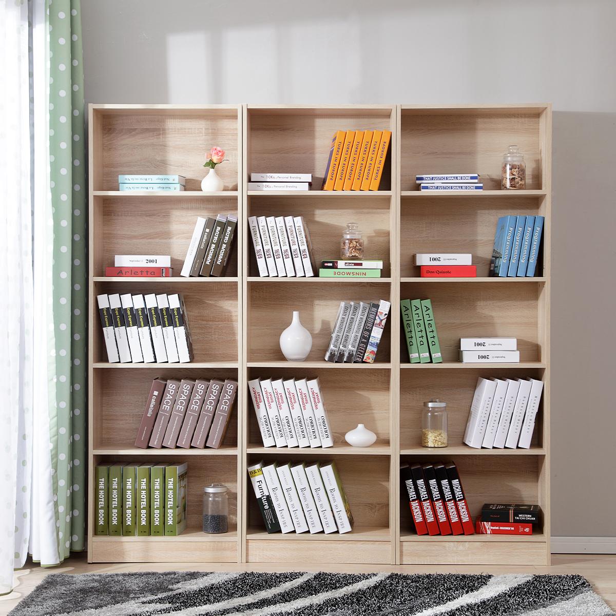 美达斯书柜简约现代五层书架书柜自由组合书橱柜子儿童书柜