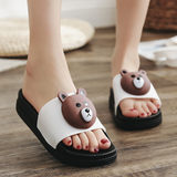 ins net red girl heart unicorn sandals and slippers 2020 new female summer wear fashion wild cute thick bottom tide