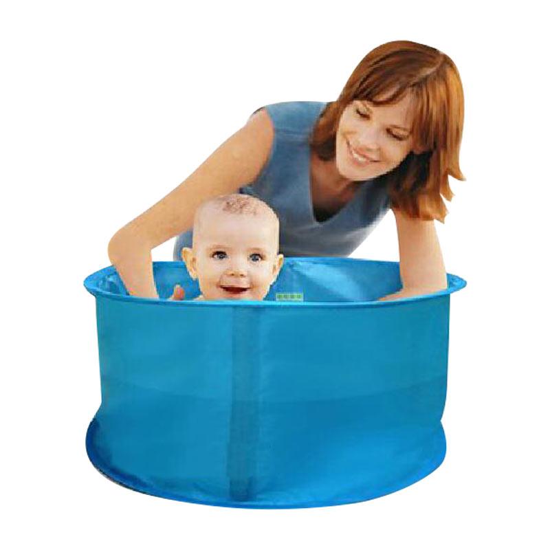 可摺疊大號寶寶旅行洗澡桶 便攜兒童浴盆嬰幼兒沐浴桶泡澡池 可坐