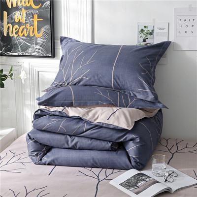 四季款高端四件套良品被套水洗棉宿舍床笠床单三件套床上用品套件