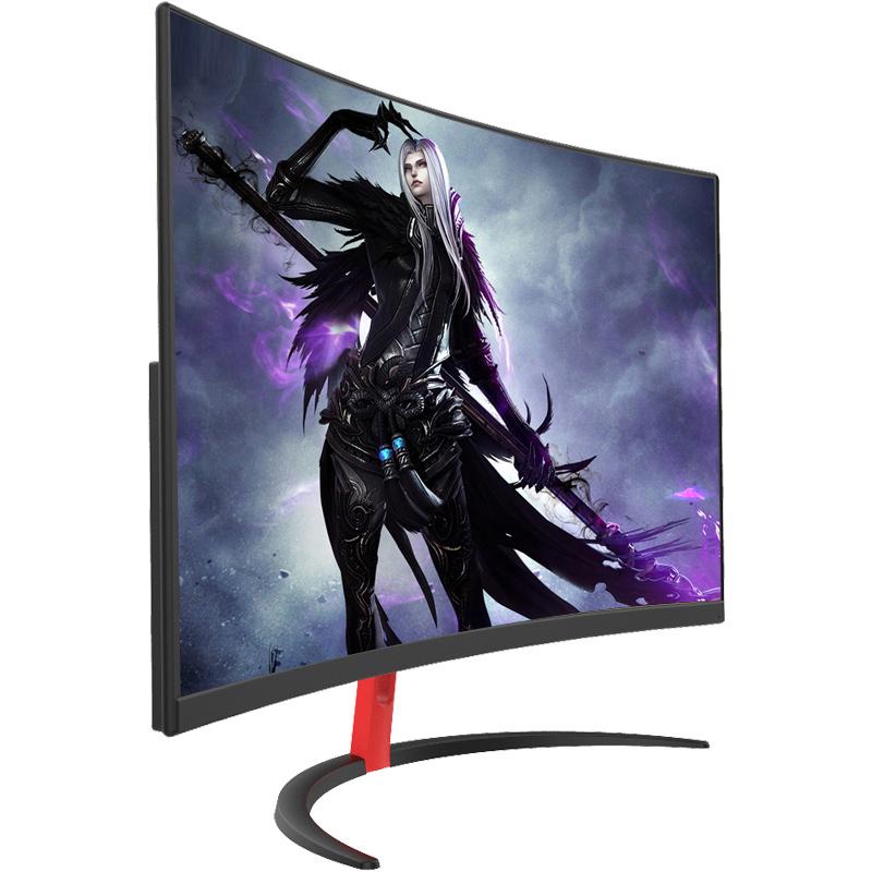 台式液晶电脑屏幕 hdmi 英寸超薄曲面显示器白色高清电竞游戏 27 米哲