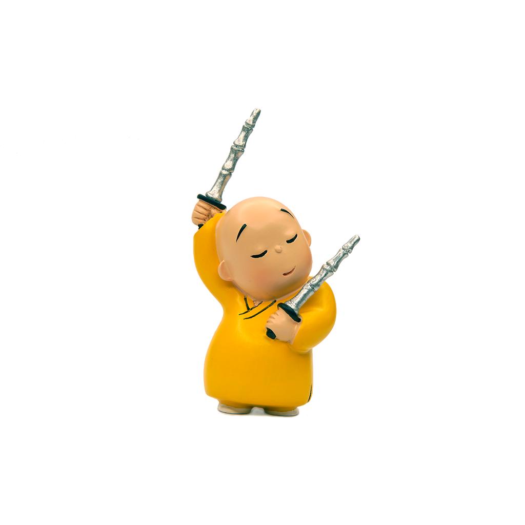 贤二小和尚公仔守护心门系列树脂居家摆件动漫画创意礼品官方正品