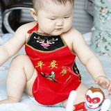 Baby apron apron newborn baby care belly circumference summer and spring full moon hundred red cotton Four Seasons General