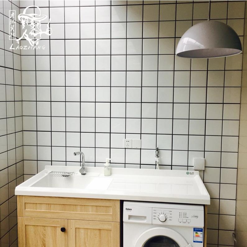 北欧小白砖面包砖厨房卫生间瓷砖浴室白色小方砖墙砖300x600瓷片