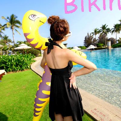 韩国温泉游泳衣女连体裙式遮肚显瘦女士保守大小胸胖MM加大码泳装