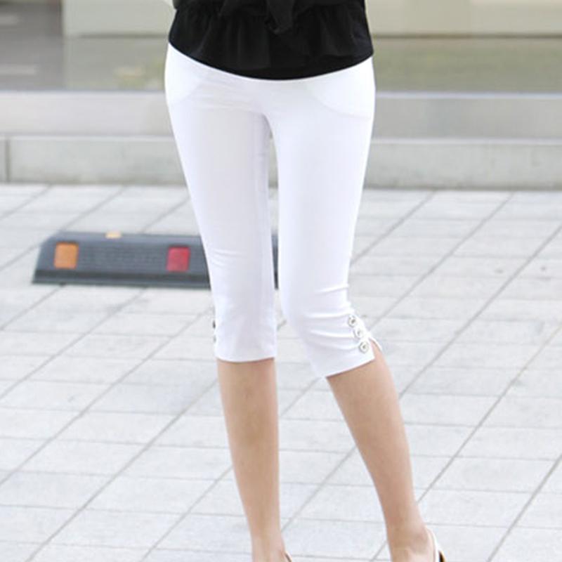 韩版中裤女夏薄款五分裤七分裤休闲修身弹力大码打底外穿小脚裤潮