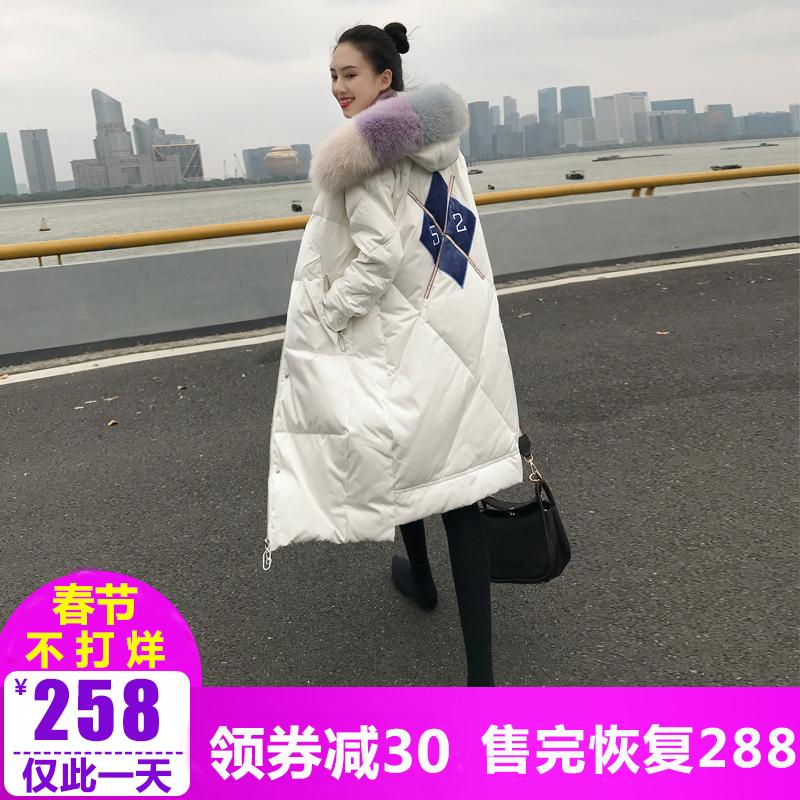 羽绒棉服女2018新款冬装韩版中长款棉袄东大门棉衣过膝加厚外套潮