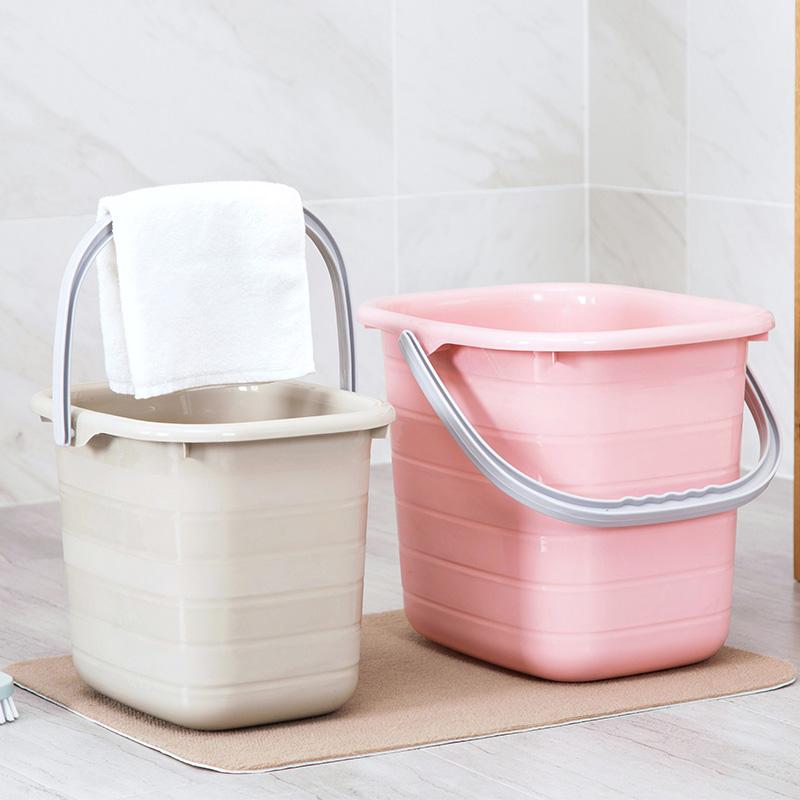 塑料加厚長方形手提水桶大號儲水桶家用拖把桶塑料桶小方桶洗衣桶