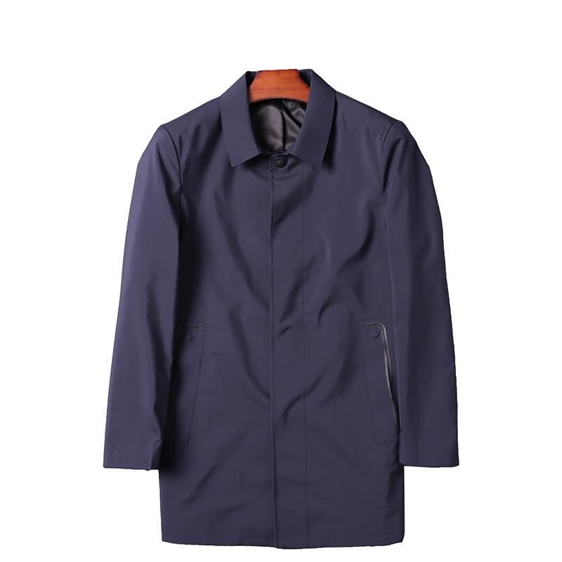 春季新款风衣外套男中长款压胶无痕品质做工 压胶系列 激光切割