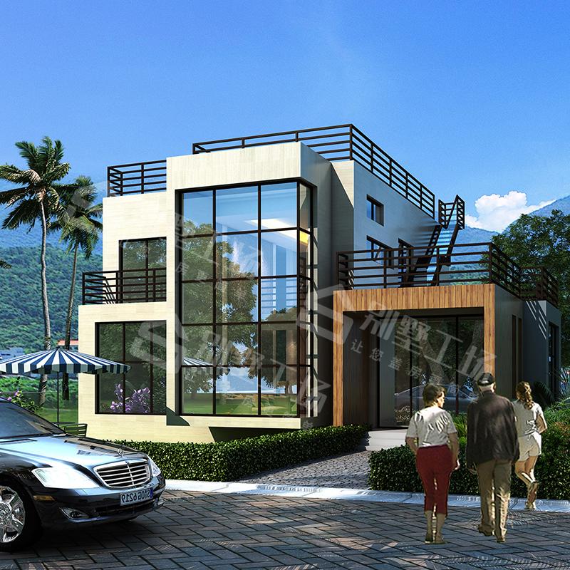 GC239二层现代别墅设计图农村自建房设计图全套施工效果图带露台