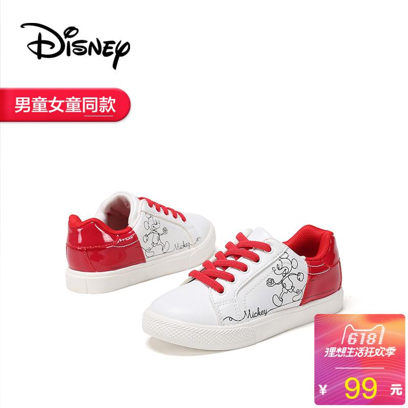 [淘寶網] 鞋櫃童鞋 2018春季新款迪士尼米奇大童女鞋橡膠休閒板鞋