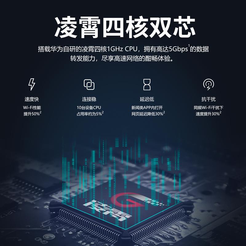 路由器 5g 大戶型移動電信智能 wifi 四核版千兆端口雙頻家用路由器穿墻王高速無線 ws5200 華為路由器 新品發售