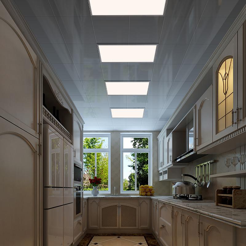 平板灯 LED 卫生间铝扣板吸顶灯嵌入式 600 300 厨房灯 灯 led 集成吊顶