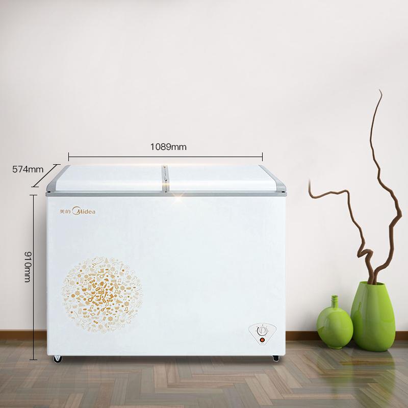 冰柜冷藏冷冻小冰箱双温家用大容量冷柜 E 220VM BCD 美 Midea