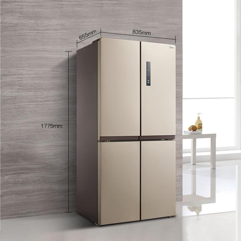 十字对开四门变频静音节能家用电冰箱 E 468WTPM BCD 美 Midea