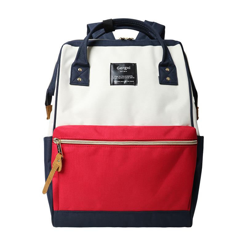 日本乐天双肩包男女学生书包旅行背包大容量离家出走包时尚妈妈包