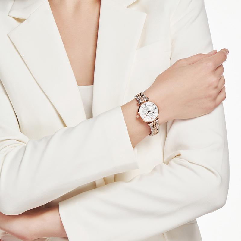 【官方】Armani旗舰店阿玛尼满天星手表女款时尚气质潮腕表AR1926
