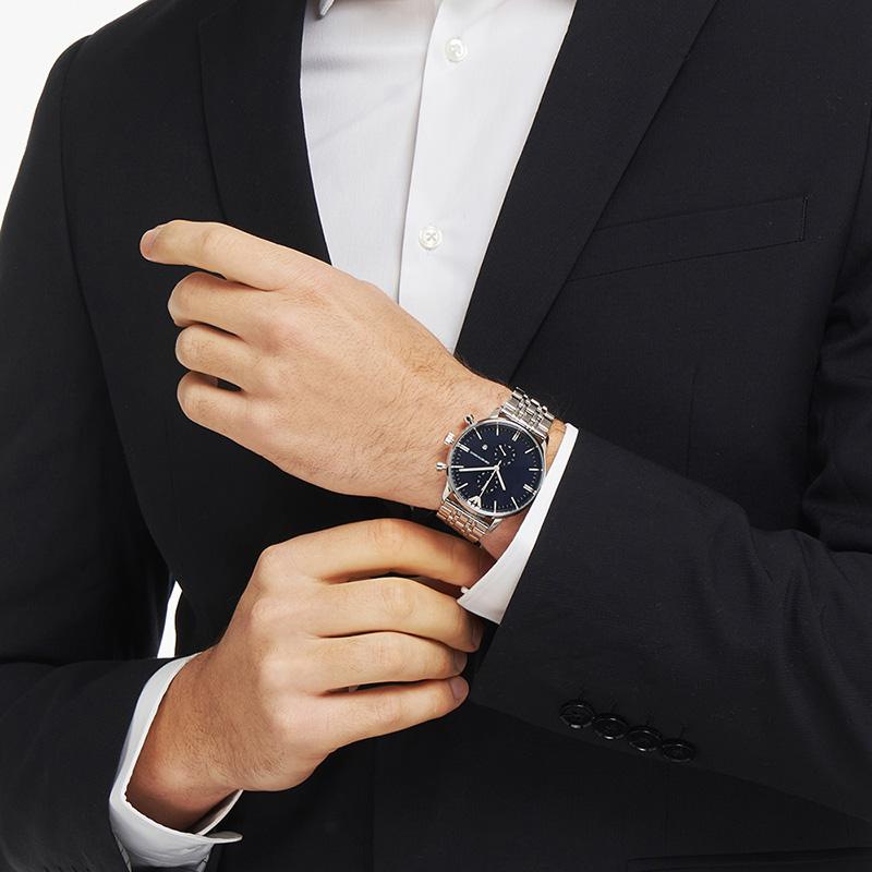 Armani阿玛尼官方旗舰店正品手表男商务简约品牌钢带石英表AR1648