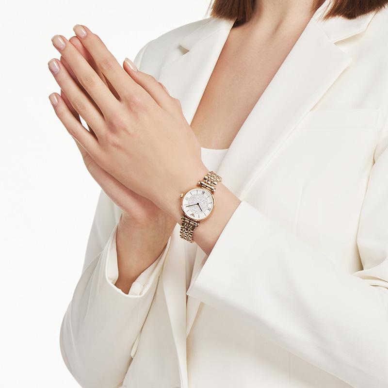 【官方】佟丽娅同款Armani阿玛尼满天星手表女镶钻女士表AR11244