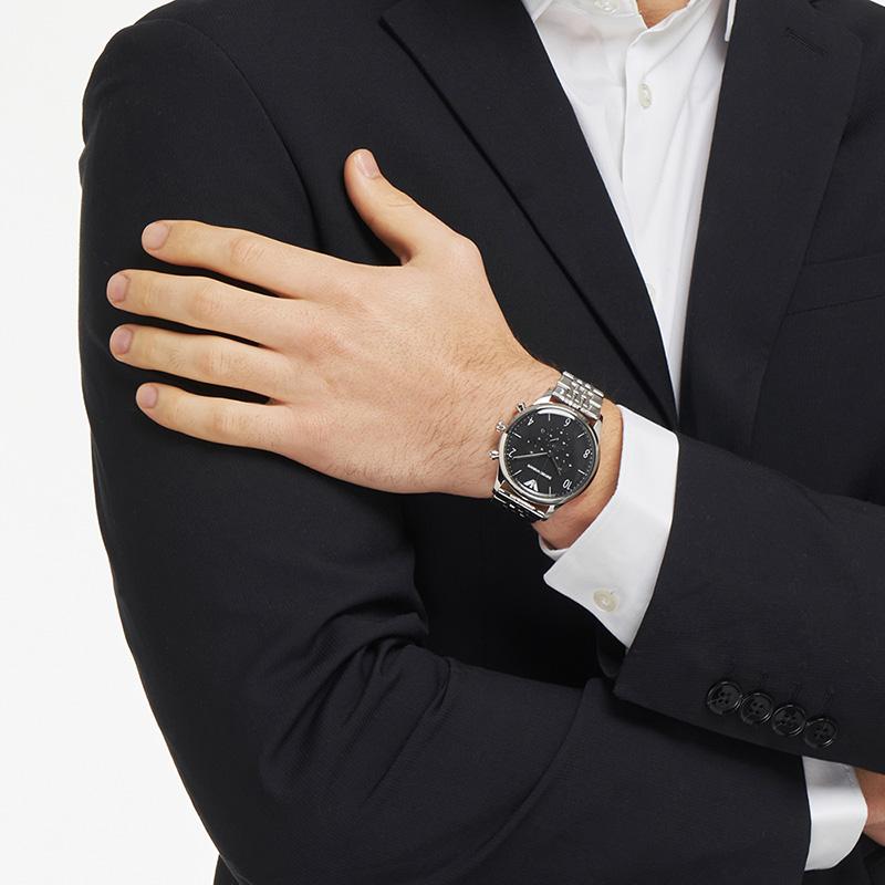 【官方】Armani阿玛尼手表旗舰店钢带时尚型男商务男士腕表AR1863