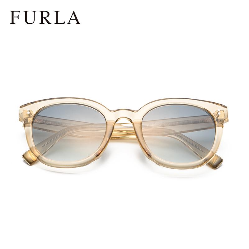 FURLA芙拉复古优雅水果色太阳镜女潮流大框水晶板材墨镜SFU047K