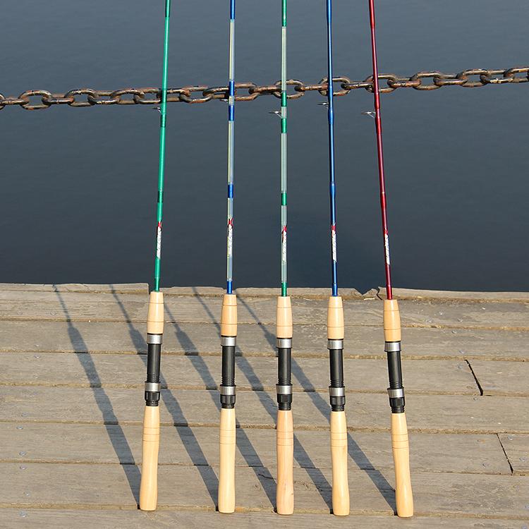 工厂直销1.5米马口路亚竿直柄超软UL海竿筏钓竿木柄实心多用鱼竿