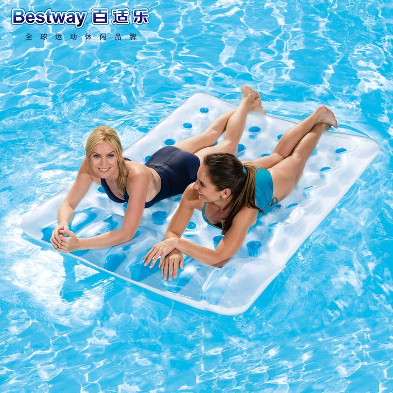 原裝正品Bestway三十六孔雙人浮排 充氣浮床水床沙灘墊 水上氣墊