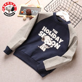 Snoopy boys and girls raglan sleeves sweater 2019 new children's blouse baby western style round neck pullover tide