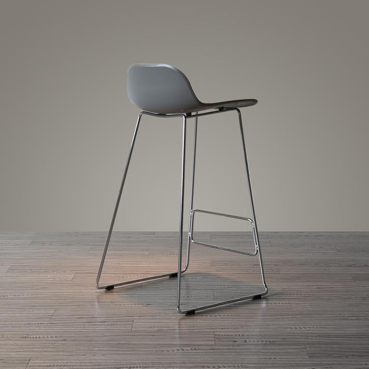 简约设计丹麦北欧小户型百搭个性创意酒吧椅咖啡店前台靠背吧台椅