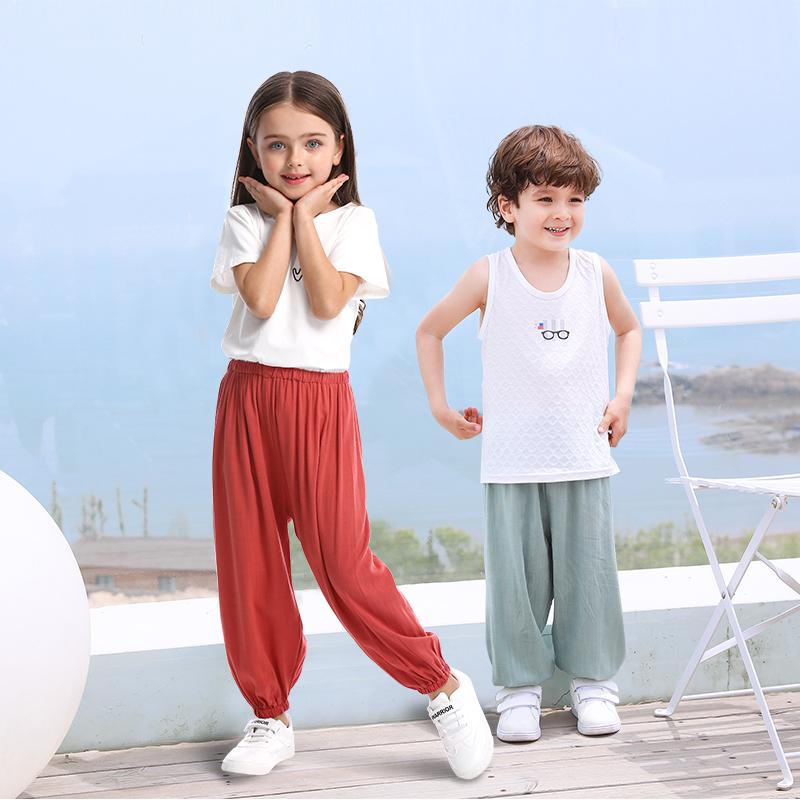 儿童防蚊裤薄款夏季婴幼儿小童宝宝防蚊裤男童女童空调裤长裤夏装