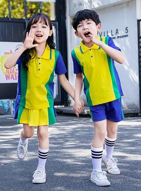 。小学生校服套装学院风运动会班服短袖时尚园园幼儿儿童服定做耐