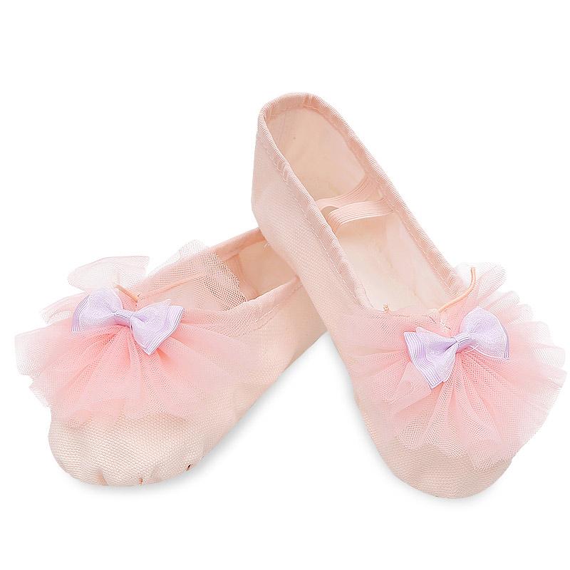 儿童舞蹈鞋软底女猫爪鞋幼儿成人跳舞形体瑜伽练功鞋女童芭蕾舞鞋