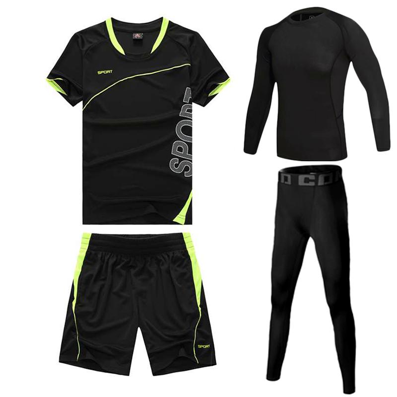 休闲运动套装男T恤短袖速干健身男夏季羽毛球薄款吸汗透气跑步服