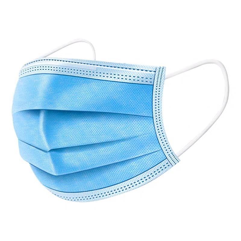 现货一次性无纺布防尘防水防雾霾罩加厚防护罩50个只装口蓝色口召