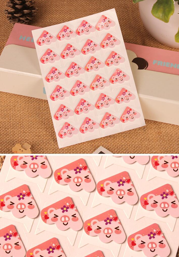 diy相册角贴配件固定照片纸质复古卡通碎花角贴24枚入