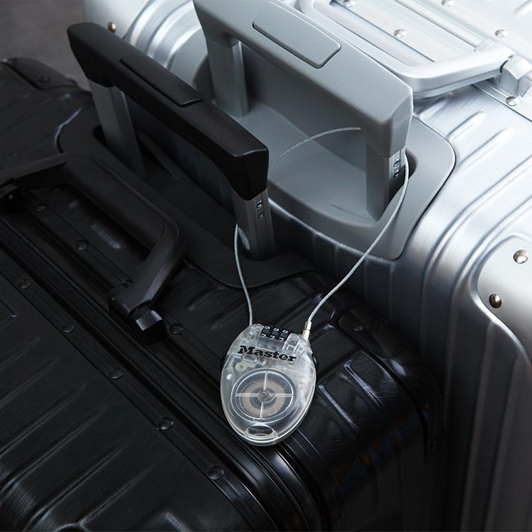 美國瑪斯特鎖戶外旅行箱包可調節防盜鎖柔性鋼纜4位密碼可調4603