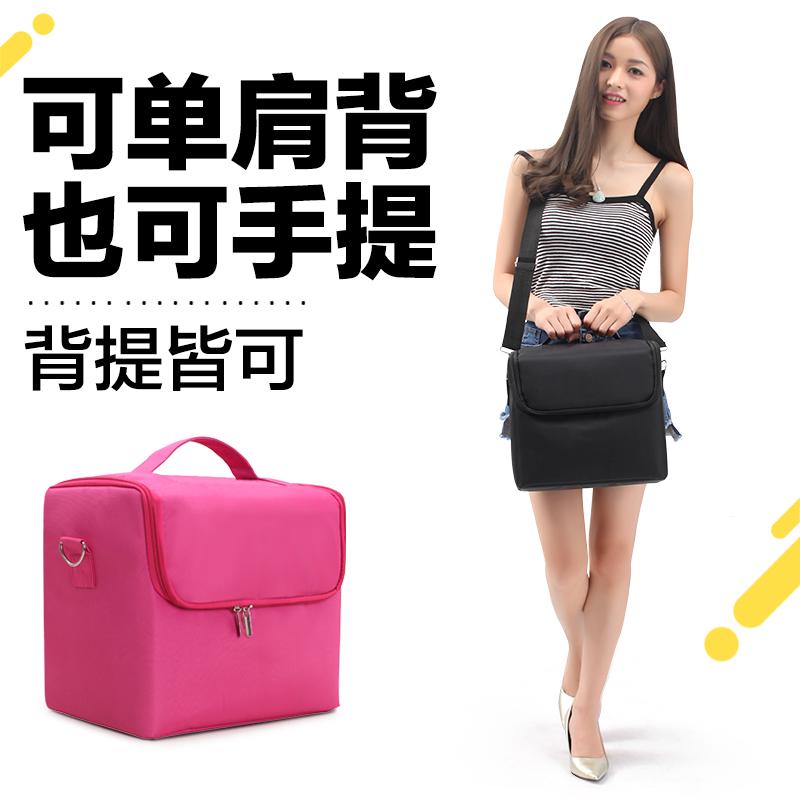 专业化妆包大容量手提便携多功能纹绣工具箱多层跟妆美甲收纳箱包