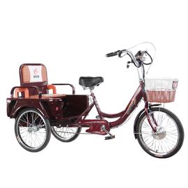 三轮车脚踏车老人代步车成人脚蹬三轮自行车成年人力三轮可改电动