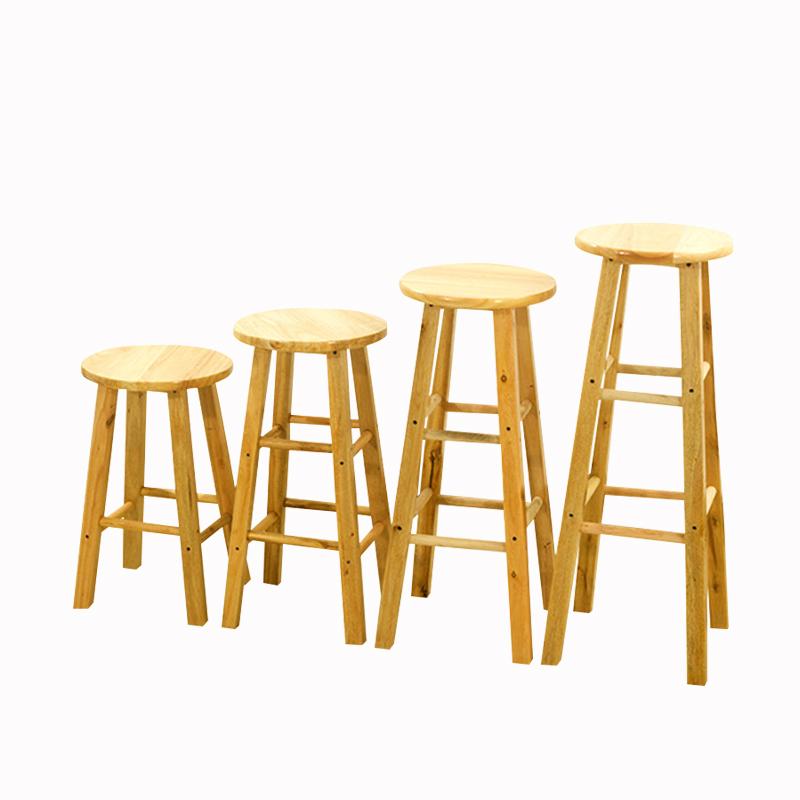 实木奶茶店吧台椅简约手机店桌椅子北欧现代酒吧高脚家用高凳子
