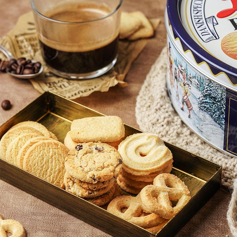 盒进口年货礼盒过年送礼休闲零食 681gX2 皇冠丹麦曲奇饼干 Danisa