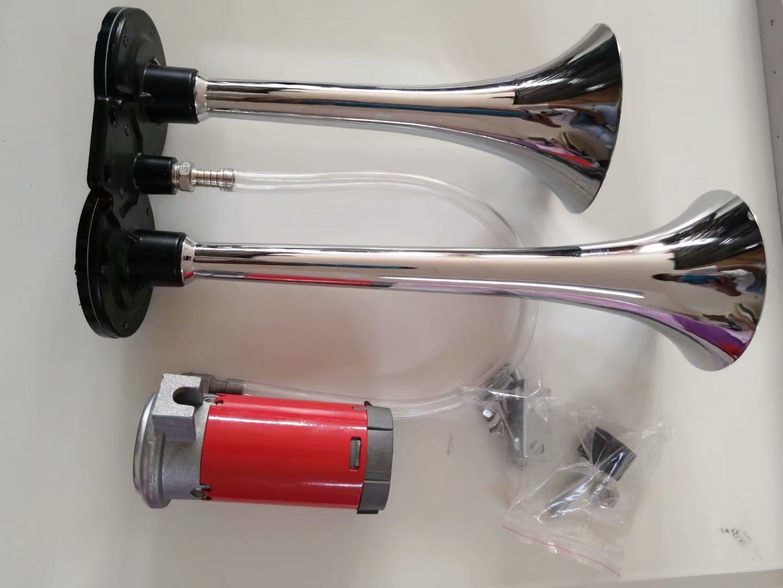 气泵鸣笛长管电动气泵喇叭电控气金属气喇叭 12V24V 汽车货车小车