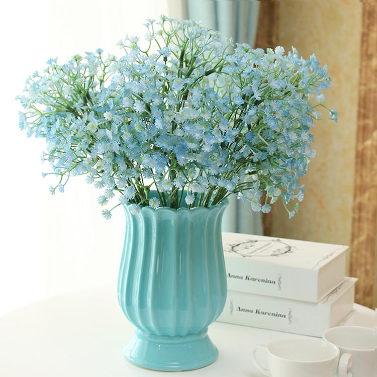 客廳花瓶創意時尚擺件家居裝飾品臥室餐桌花陶瓷滿天星套裝花藝